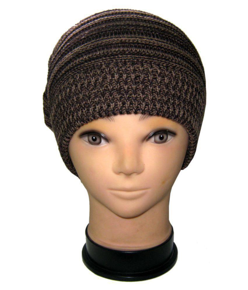 Goodluck Brown Plain Wool Caps