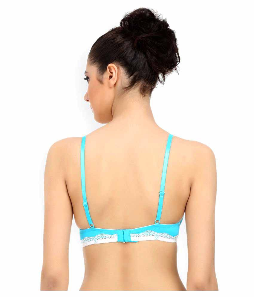 dcc9a0e5b Buy Zivame Blue Polyester Push Up Bra Online at Best Prices in India ...