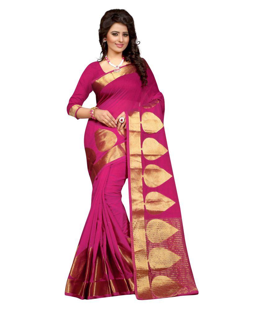 Inheart Pink Banarasi Silk Saree