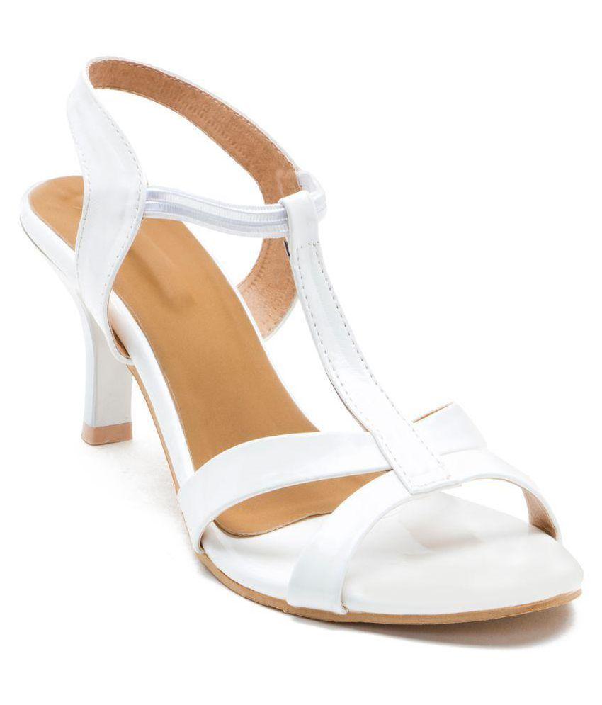 Naaz White Stiletto Heels