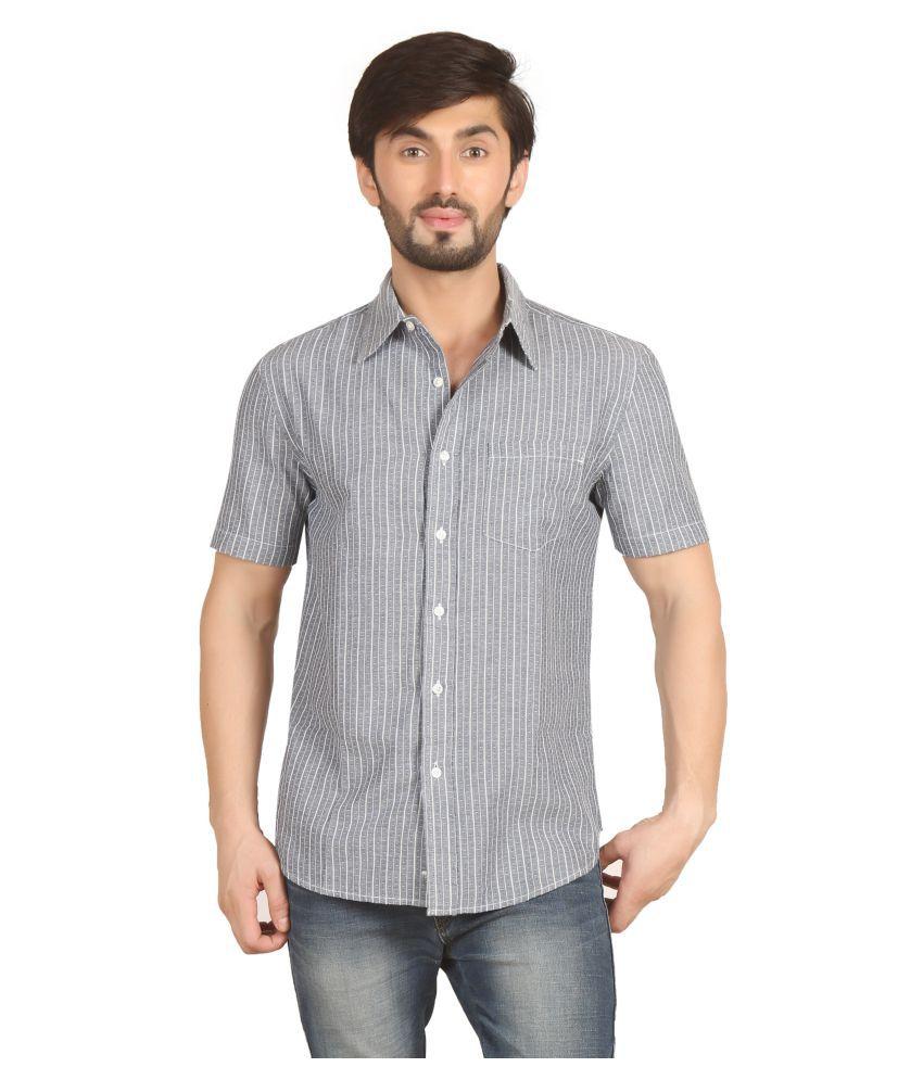 Starsy Grey Casuals Regular Fit Shirt