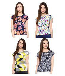 Shopaholic Polyester Regular Tops