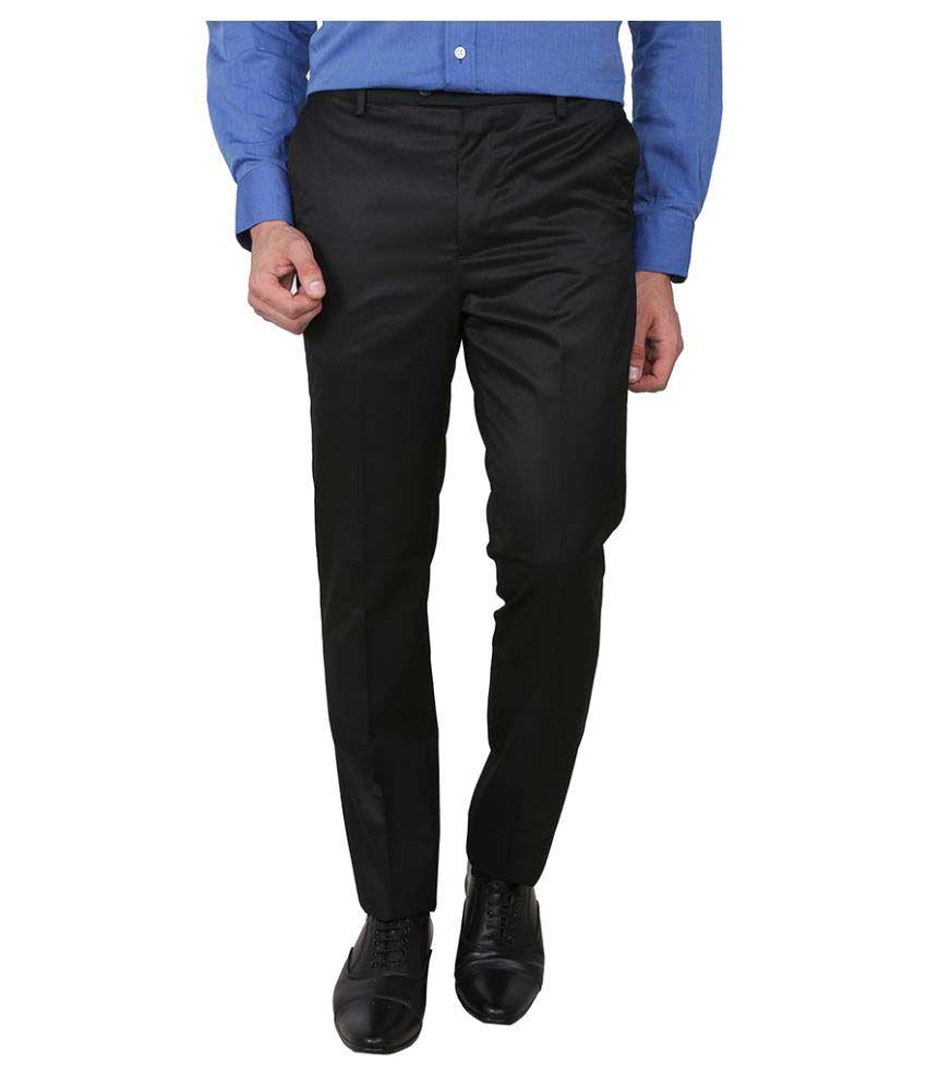 Arrow Black Slim Flat Trouser