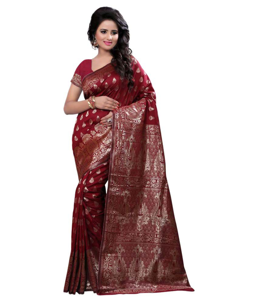 Inheart Multicoloured Tussar Silk Saree