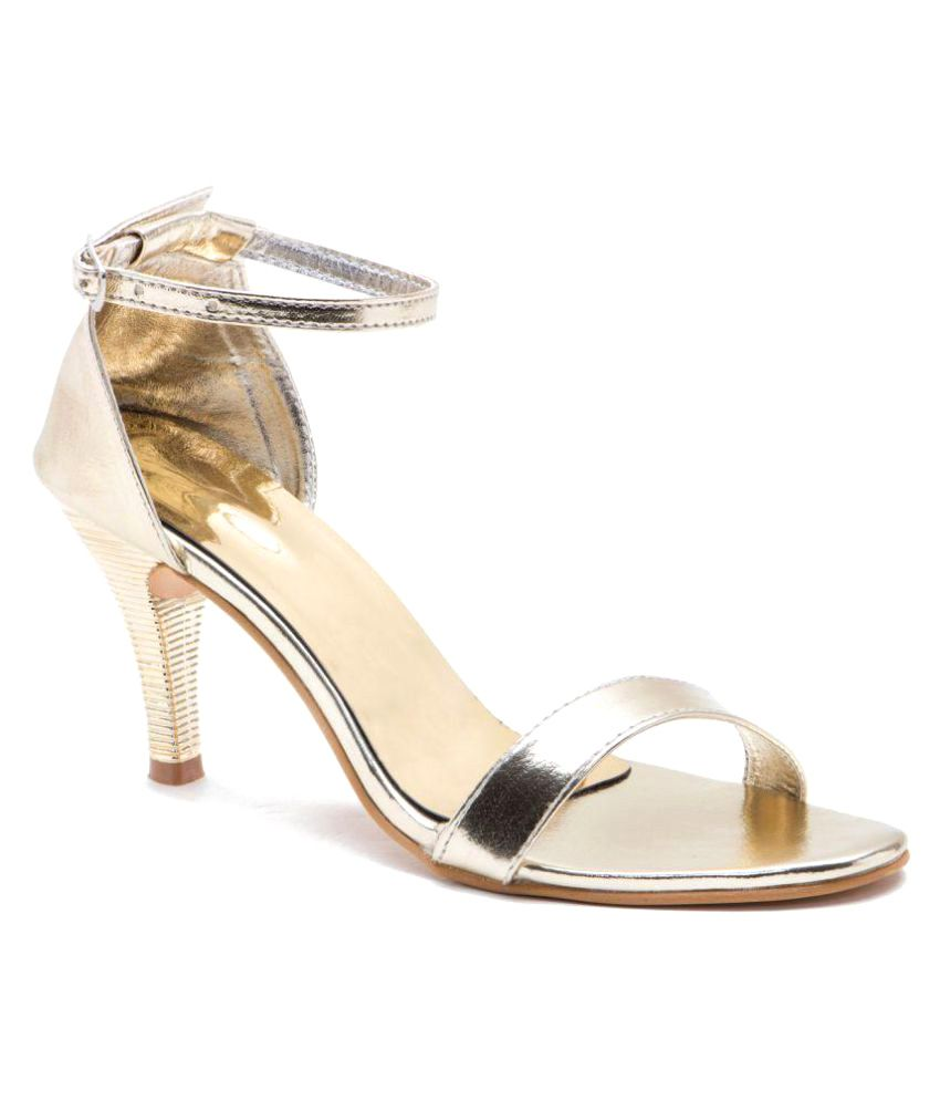 Naaz Gold Kitten Heels