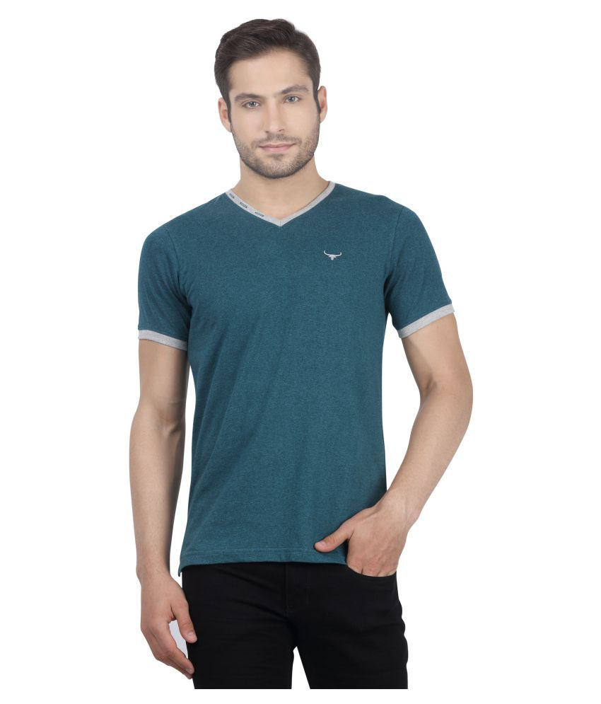 7bf2c926bfee Buffalo By FBB Green V-Neck T-Shirt - Buy Buffalo By FBB Green V-Neck T-Shirt  Online at Low Price - Snapdeal.com
