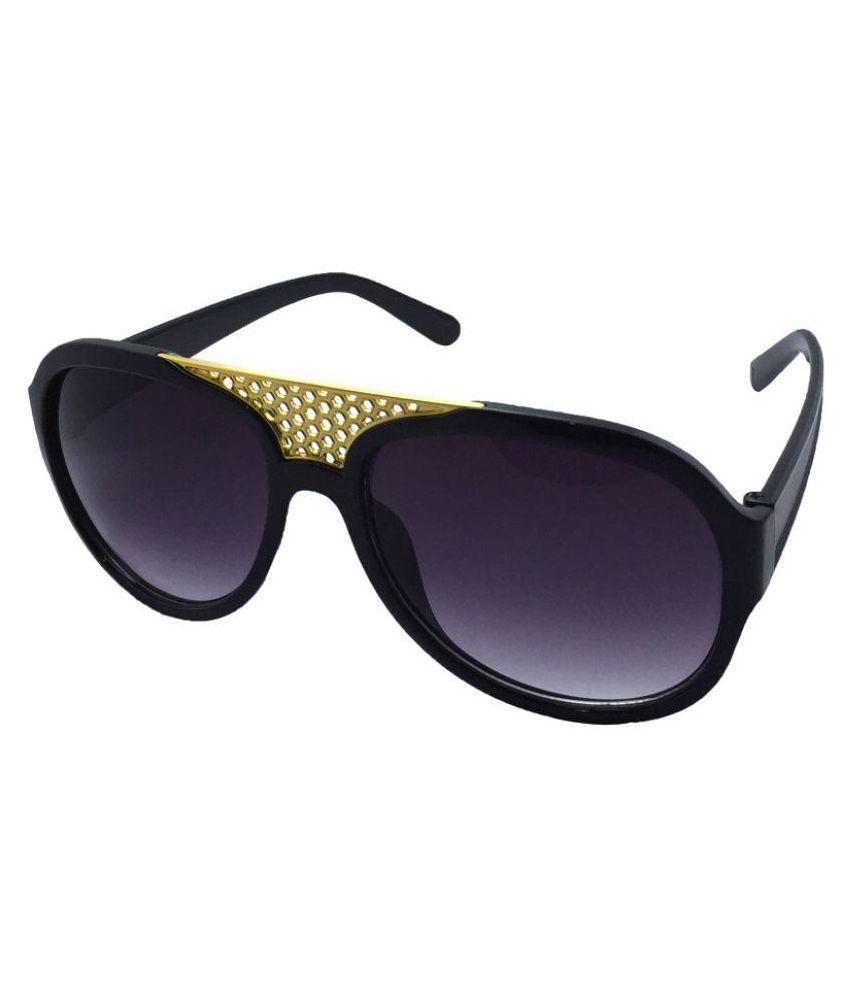 Juria black Oval Sunglasses ( NA )