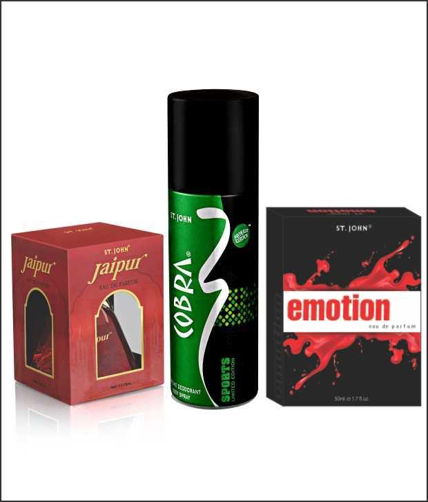 Vi-John EMOTIONS, NEW JAIPUR WITH TASTER+ COBRA DEO SPORTS Perfume 50ml Each