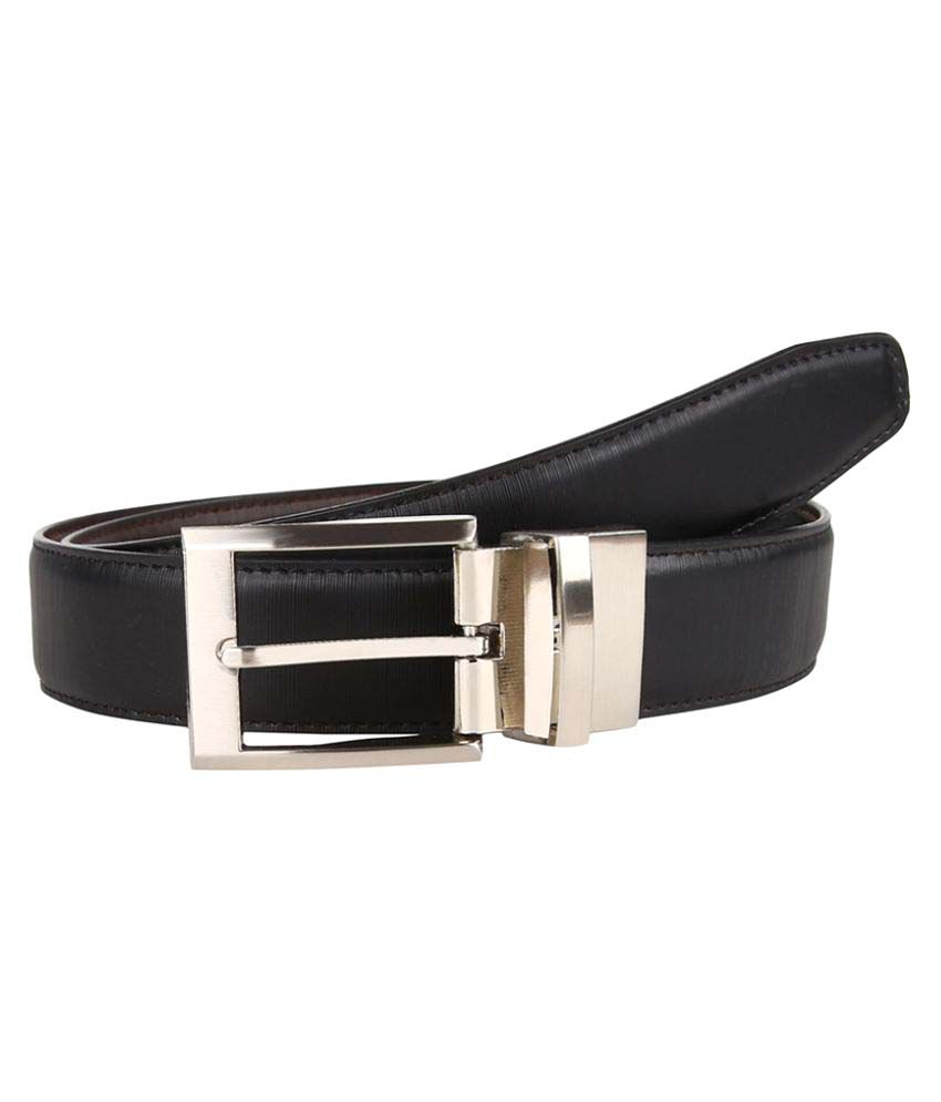 Firenzi Black PU Formal Belts