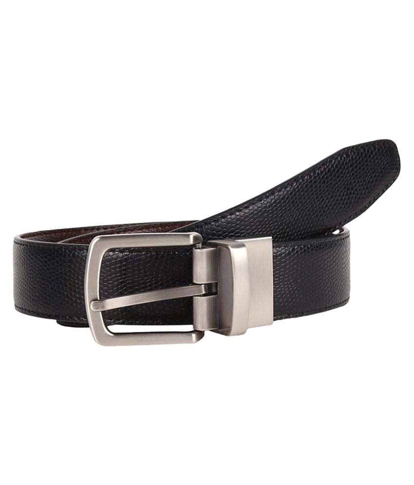 Firenzi Black PU Formal Belts