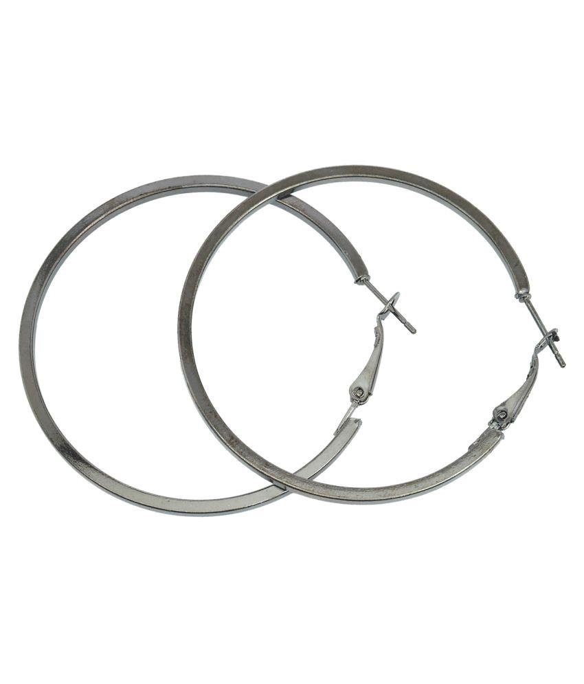 Memoir Silver Brass Hoop Earrings
