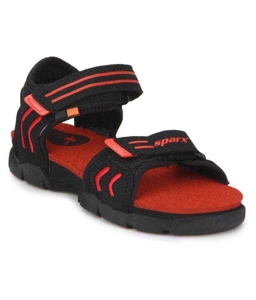 Sparx Ss-106 Black Casual Sandal Price