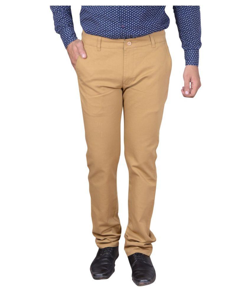 Capy Beige Regular Flat Trouser