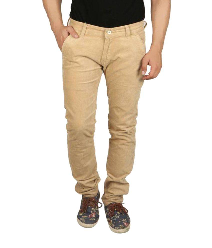 Aman Hosiery Brown Slim Pleated Trouser