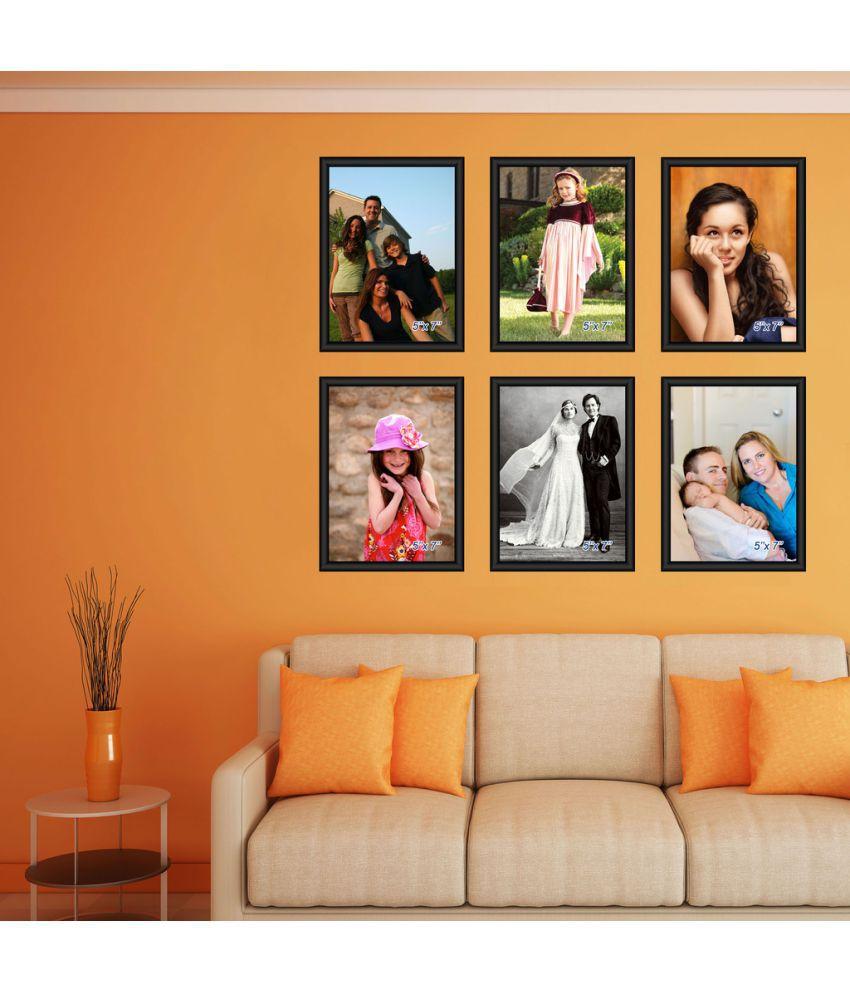 Elegant Arts & Frames PVC Wall Hanging Black Photo Frame Sets