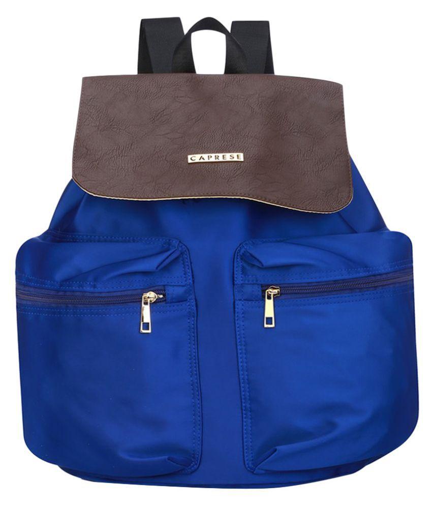 Caprese Blue P.U. Backpack