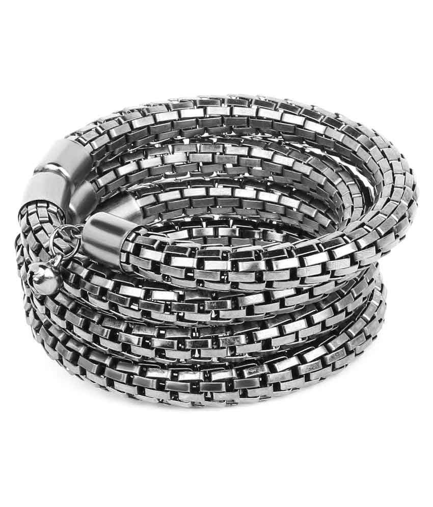 Johareez Silver Alloy Bracelet