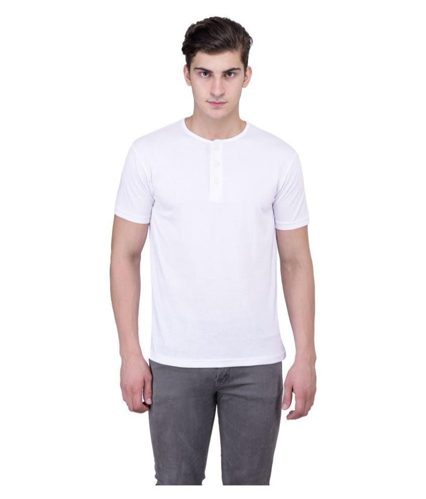 Vivid Bharti White Henley T-Shirt