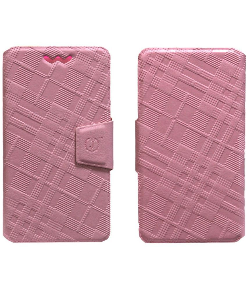 Micromax Bolt A40 Flip Cover by Jojo - Pink