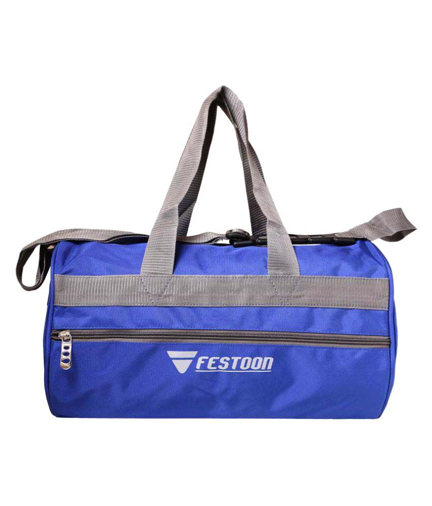 Festoon Blue Gym Bag