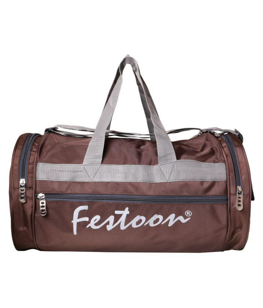 Festoon Brown Gym Bag