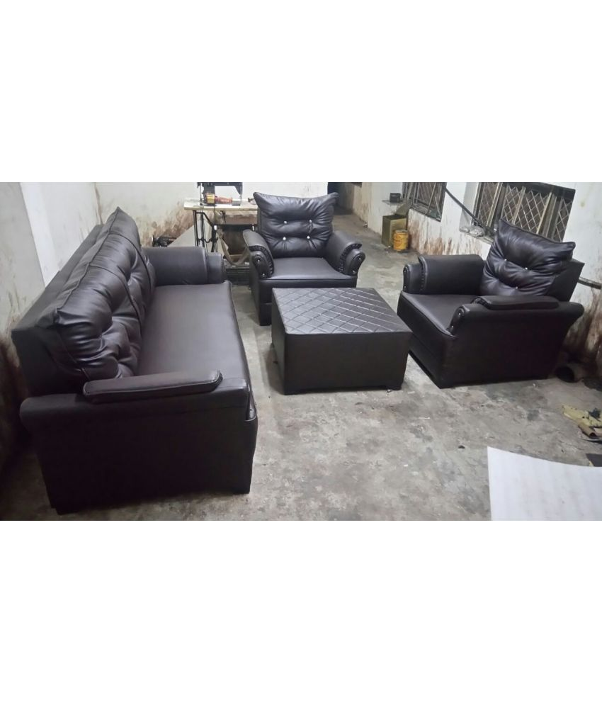fabbulls india 5 seater faux leather set of 3 sofa cover