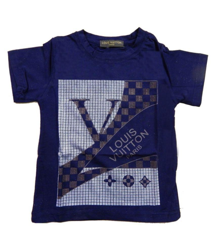 100b7c98af31 Louis Vuitton Navy Blue T-Shirt For Boys - Buy Louis Vuitton Navy Blue T- Shirt For Boys Online at Low Price - Snapdeal