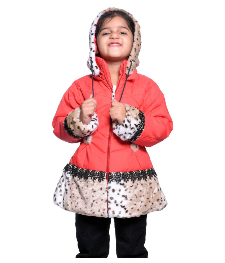 Come In Kids Red Polyster Girl's Jacket