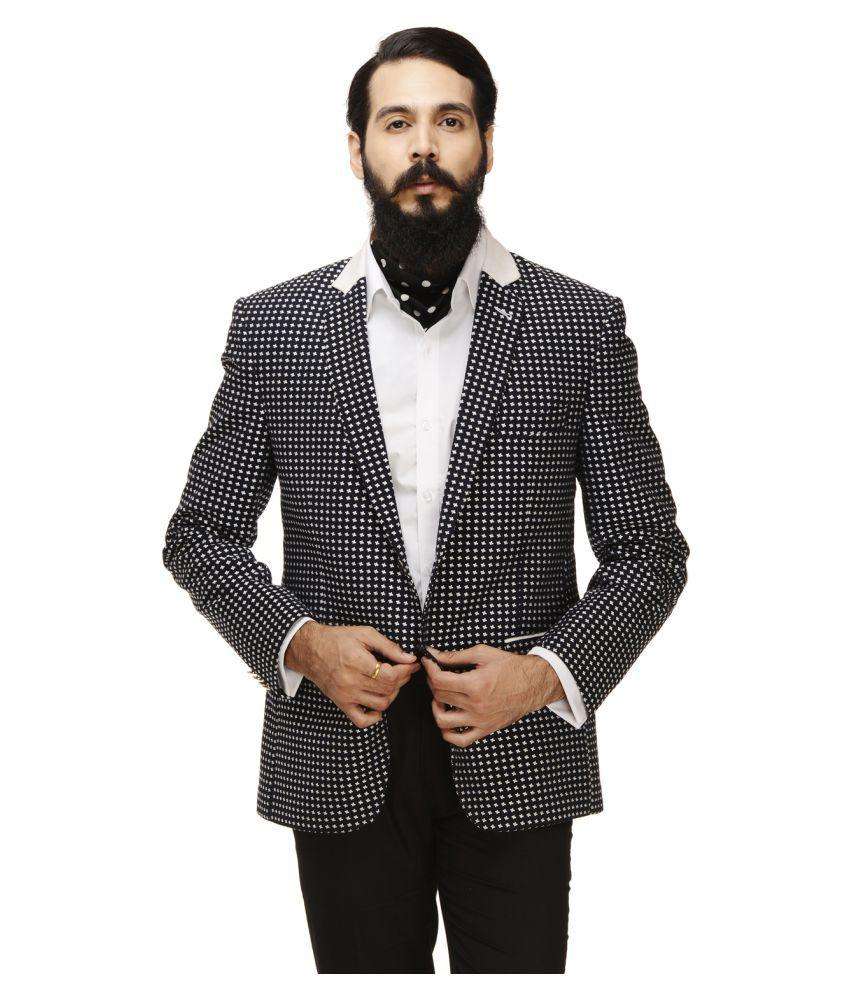 Monteil & Munero Black Self Design Casual Blazers