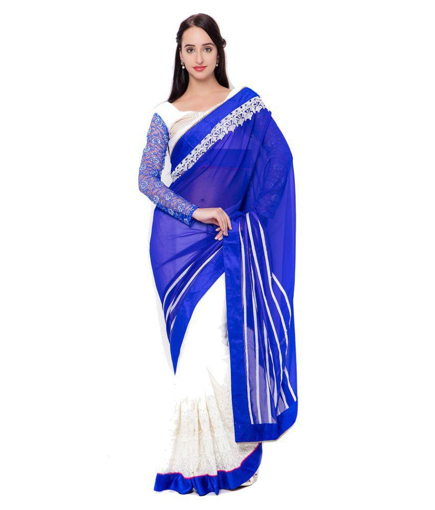Prachi Silk Mills Multicoloured Georgette Saree