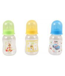 Mee Mee Multicolour Baby Feeding Bottle - Pack Of 3
