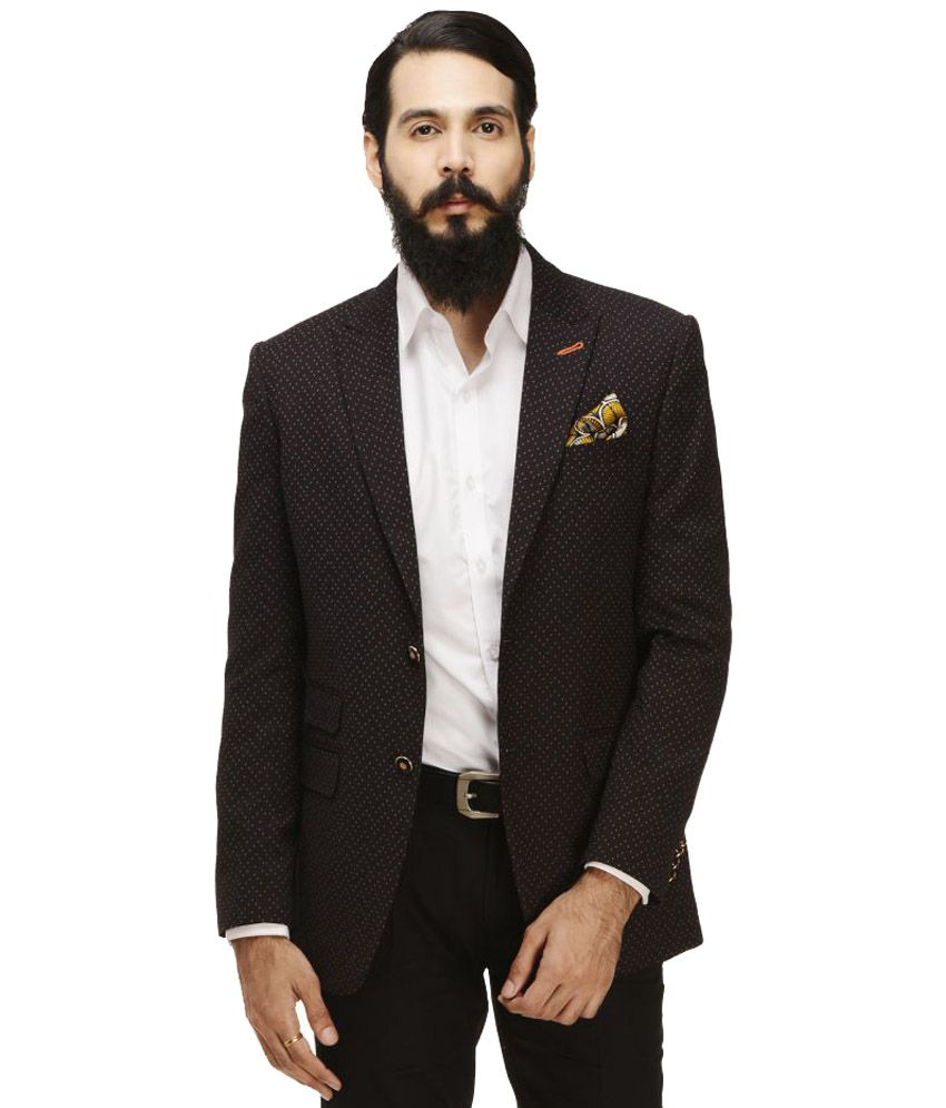 Monteil & Munero Black Printed Casual Blazers