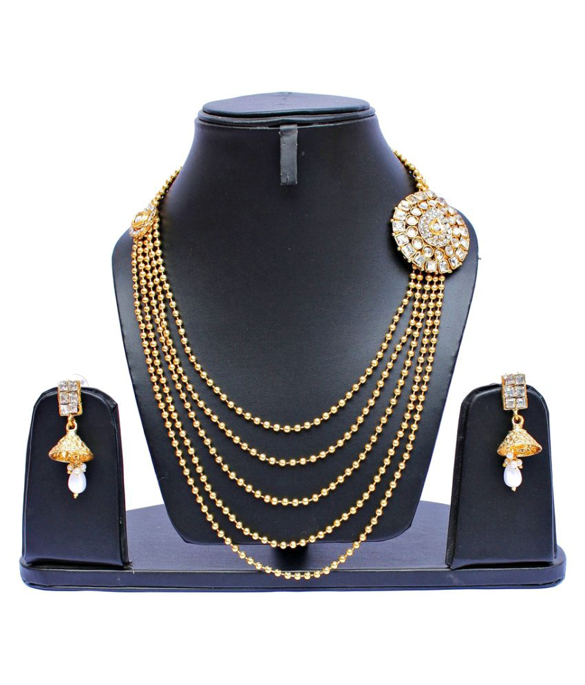Lucky Jewellery Golden Necklace Set
