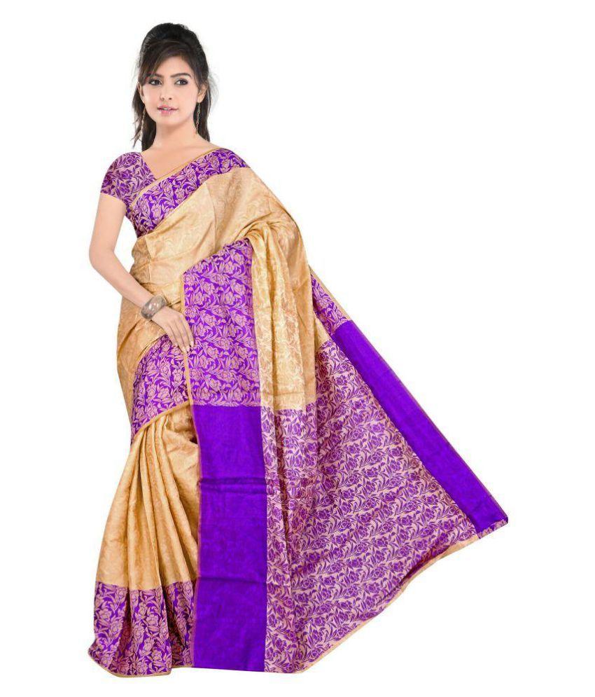 Satyam Weaves Violet Cotton Saree