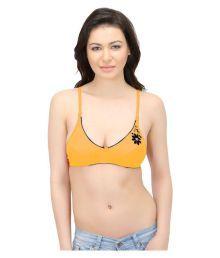 Viral Girl Yellow Cotton Plunge Bra