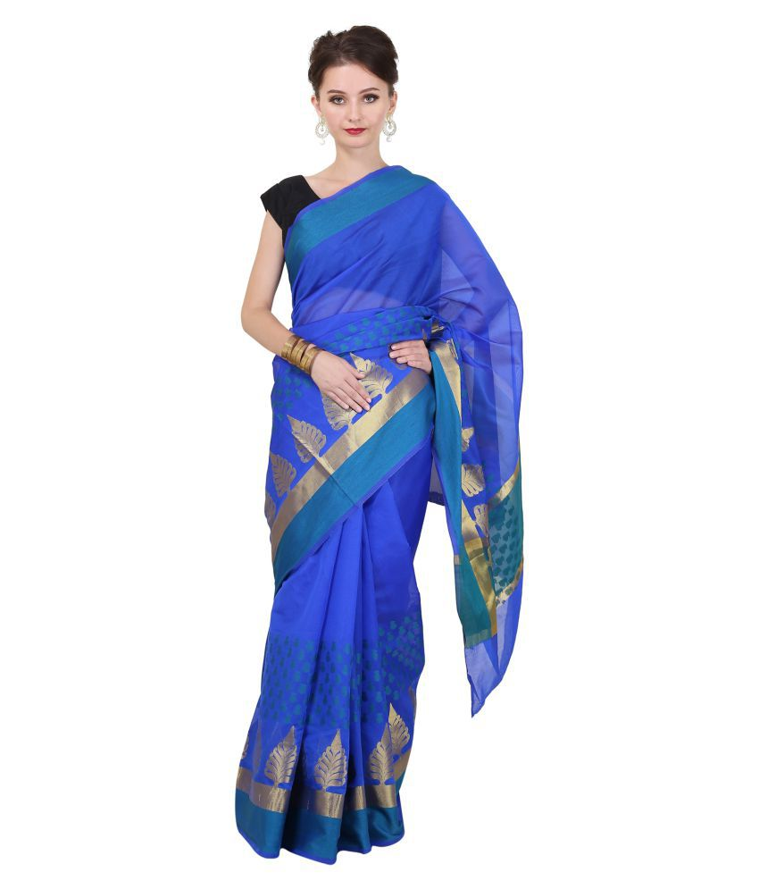 aaf420bd9 Sierra Blue Banarasi Silk Saree available at SnapDeal for Rs.1496