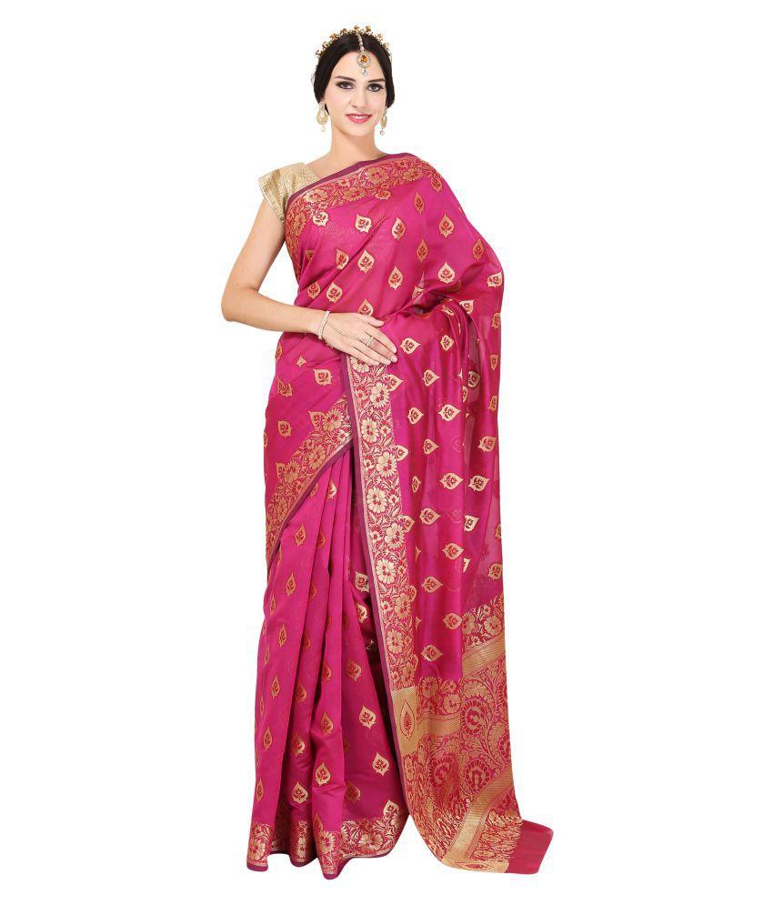 Sierra Pink Banarasi Silk Saree