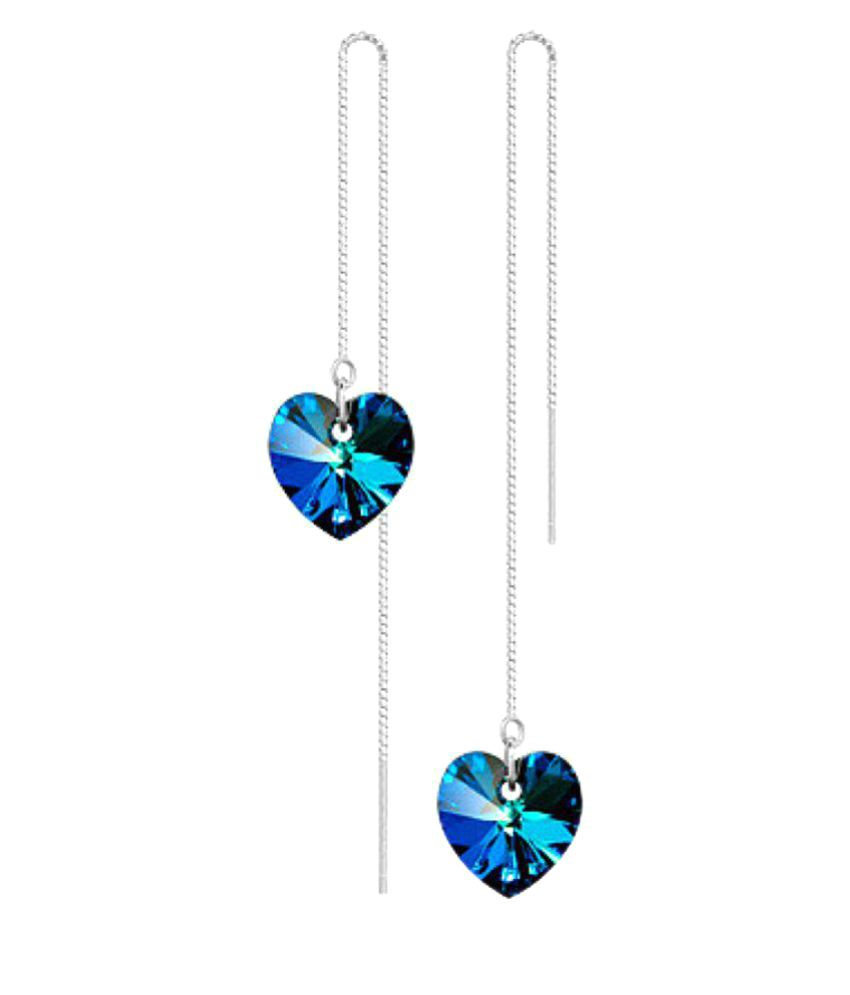 Stay Beautiful Blue Fashion Hangings Earrings
