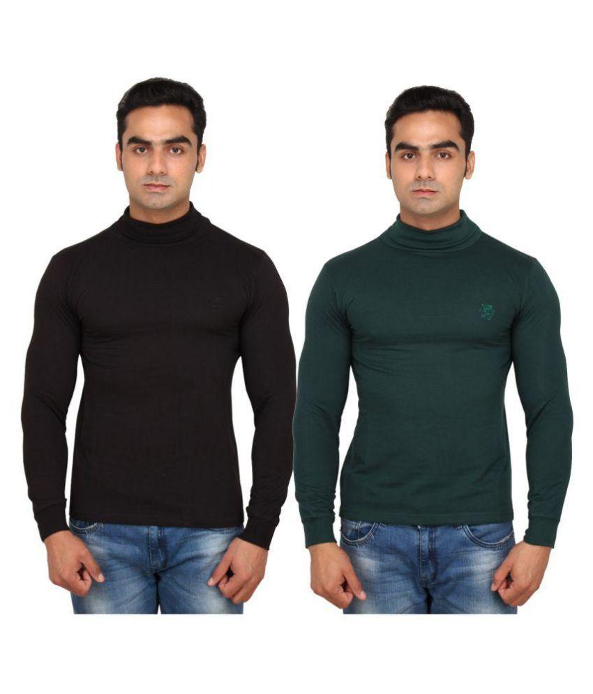 Maler Multi High Neck T-Shirt Pack of 2