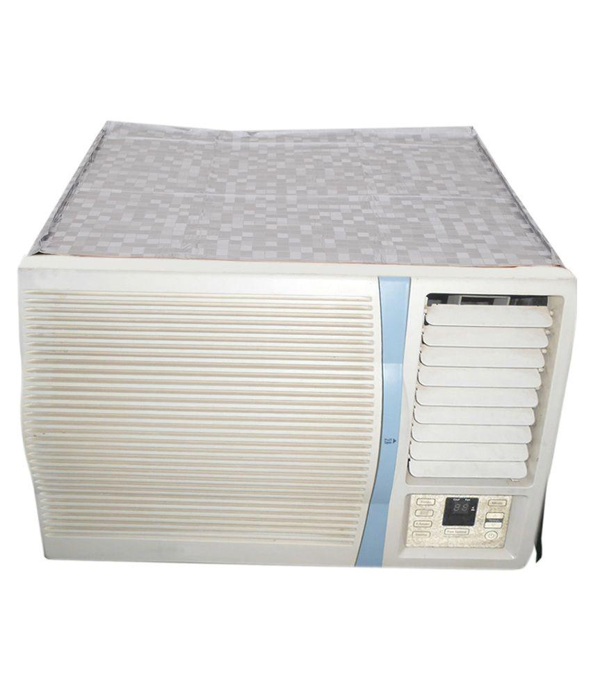 E retailer silver p v c window air conditioner cover for 2 for 2 ton window air conditioner