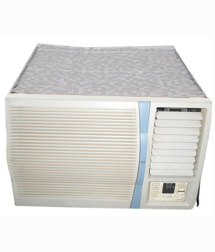E-Retailer Silver P.V.C Air Conditioner Cover For 1.5 Ton (Window AC Cover) - Buy