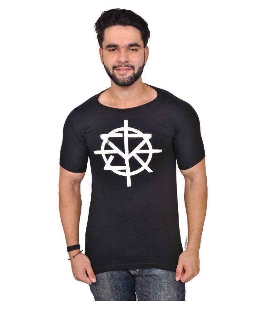 Altitude Black Round T-Shirt