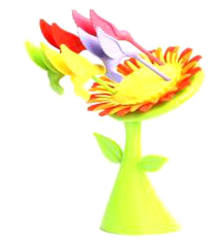 Bright 6 Pcs Plastic Fruit Fork With Stand  available at snapdeal for Rs.169