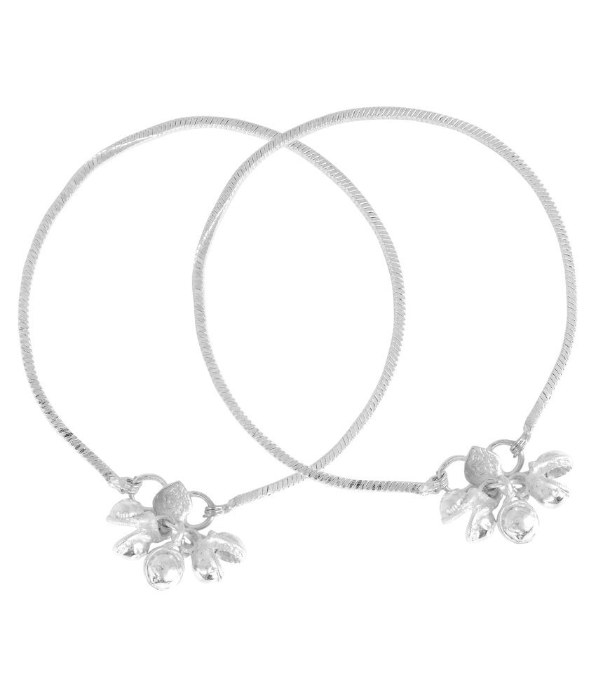 Memoir Silver Plated Anklets