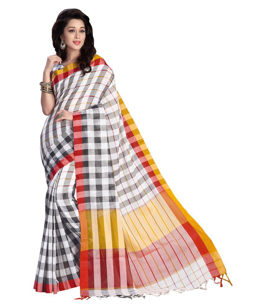 Urban Vastra Multicoloured Cotton Saree