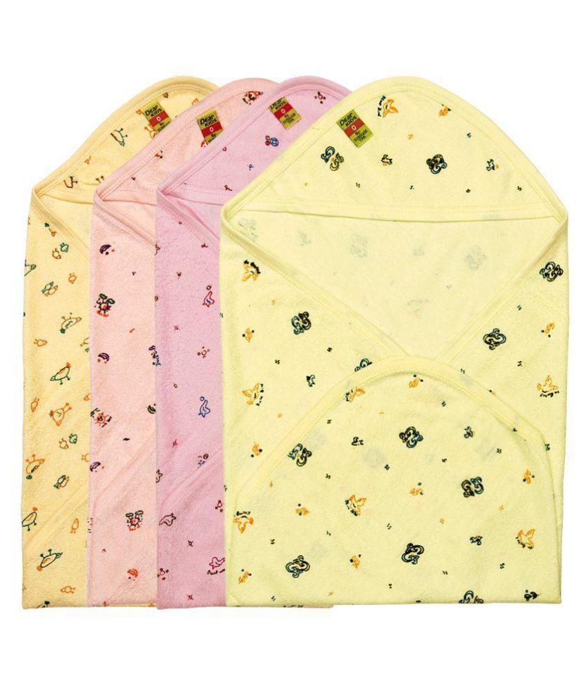 Dear Kids Multicolour Baby Wrap - Pack of 4
