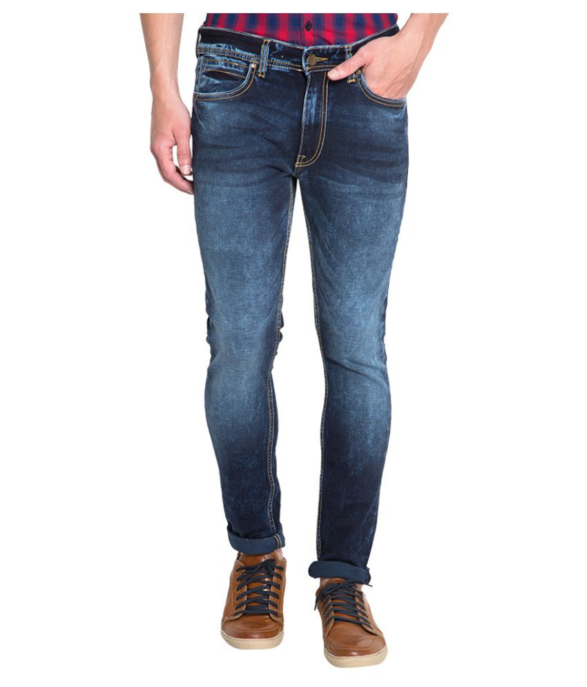 Locomotive Navy Blue Slim Solid