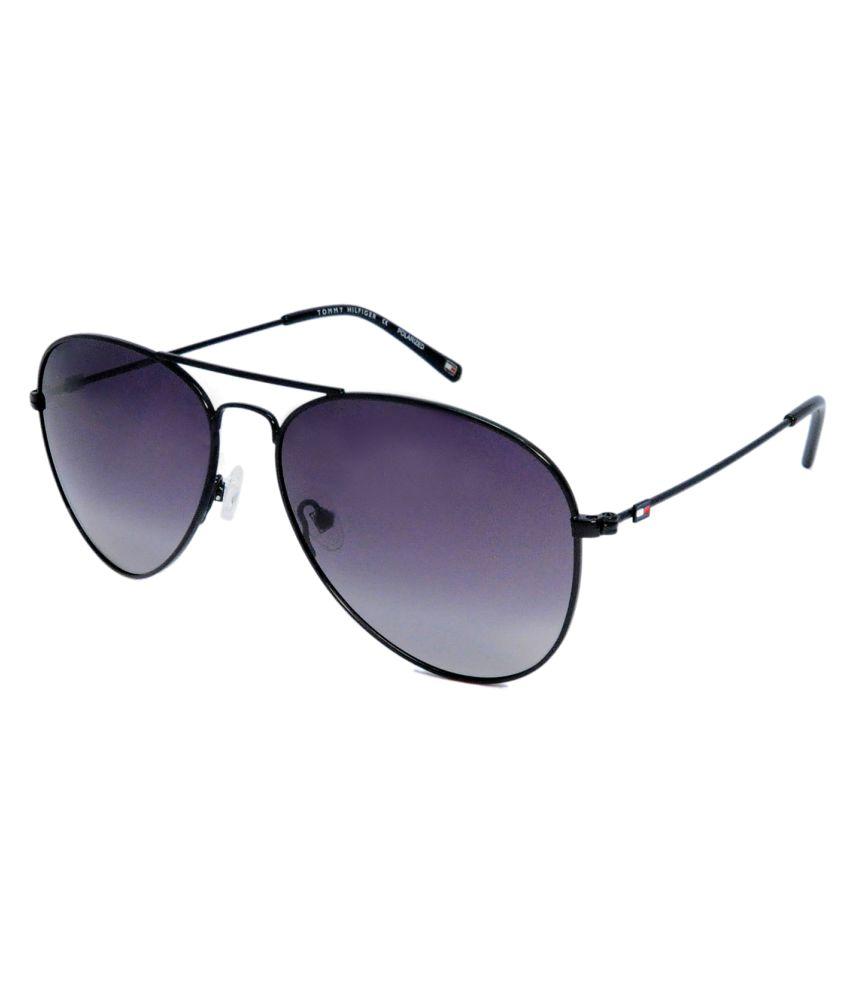 Tommy Hilfiger Purple Aviator Sunglasses ( TH-808-C2-59 )