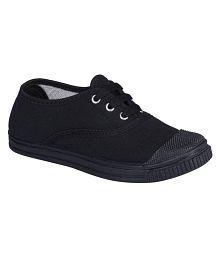 Pollo Black School Shoes