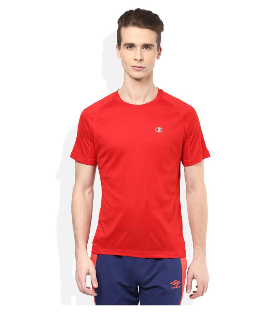 Champion Red Polyester T-Shirt Single Pack